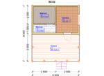 Проект бани 5х6м ББ-02 - план помещений
