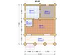 Проект бани 5.5х7м БО-02 - план помещений