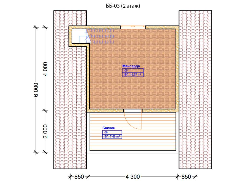 Проект бани 6х6м ББ-03