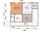 Проект бани 6х7м ББ-30 - план помещений