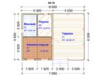 Проект бани 6х8м ББ-35 - план помещений