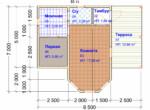 Проект бани 7х8.5м ББ-15 - план помещений