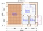 Проект дома 4.5х6м ДП-03 - план 1 этажа