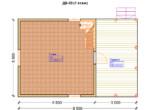 Проект дома 5.5х9.5м ДБ-33 (план 1 этажа)