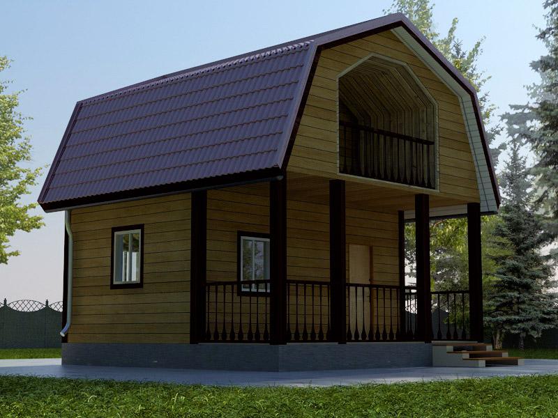 Проект дома 6х6м ДБ-04