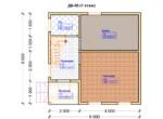 Проект дома 6х6м ДБ-05 - план 1 этажа