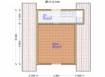 Проект дома 6х6м ДБ-26 - план 2 этажа