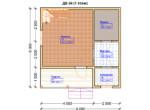 Проект дома 6х6м ДБ-34 - план 1 этажа