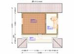 Проект дома 6х6м ДБ-39 - план 2 этажа
