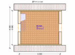 Проект дома 6х6м ДП-04 - план 2 этажа