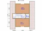 Проект дома 6х7м ДБ-27 - план 2 этажа
