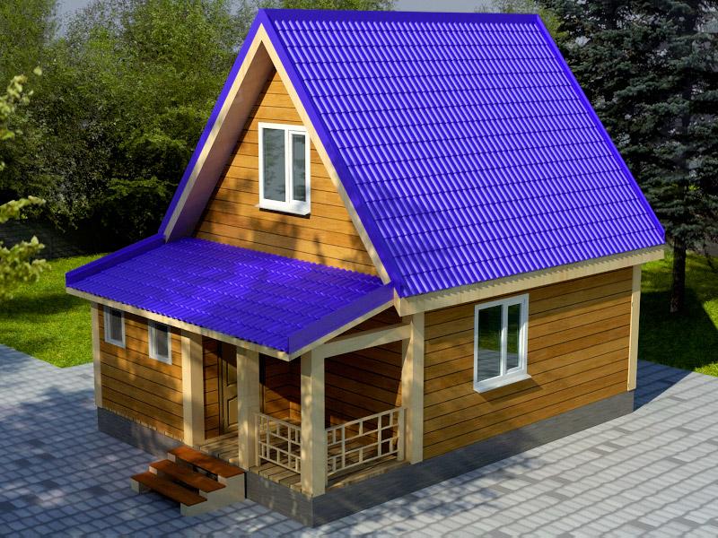 Проект дома 6х8м ДБ-16