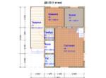 Проект дома 6х9м ДБ-22 - план 1 этажа