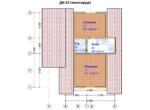Проект дома 6х9м ДБ-22 - план 2 этажа