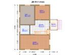 Проект дома 6х9м ДБ-35 - план 1 этажа