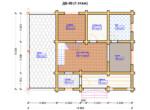 Проект дома 8х10м ДБ-06 - план 1 этажа