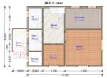 Проект дома 8х10м ДБ-51 - план 1 этажа