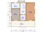 Проект дома 8х8м ДБ-41 - план 1 этажа
