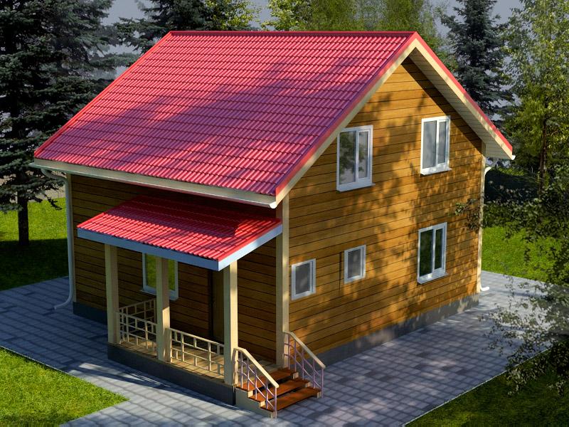 Проект дома 8х8.5м ДБ-21