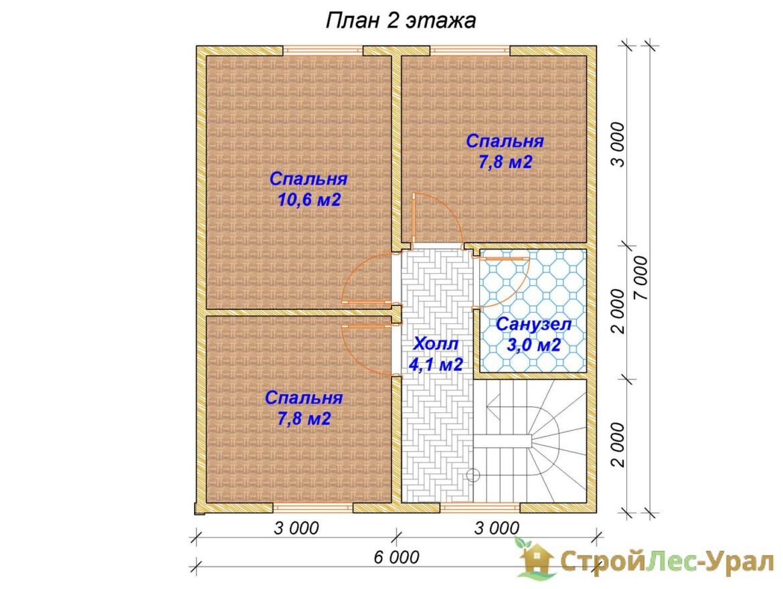 Проект дома 8х9м ДБ-12