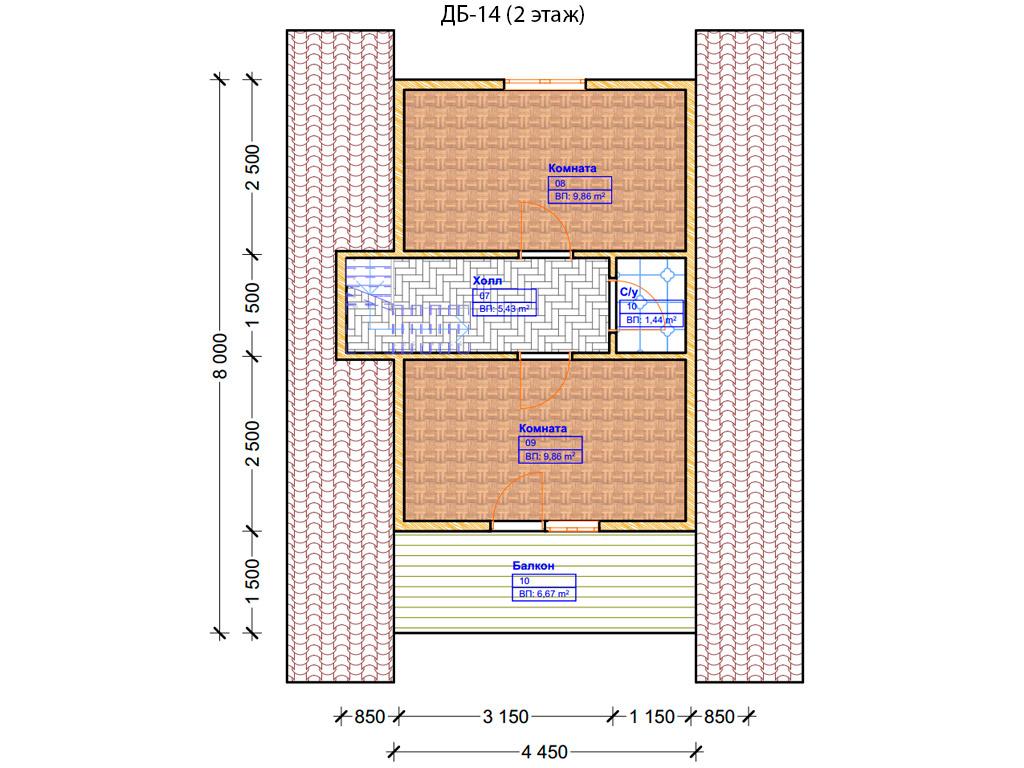 Проекты домов из бруса Цены Типовой проект дома 6х6 5х5