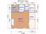 Проект дома 8х8м ДБ-56 - план 1 этажа