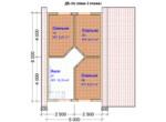 Проект дома 8х8м ДБ-56 - план 2 этажа