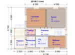 Проект дома 8х8м ДП-06 (план 1 этажа)