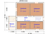 Проект дома 8х8м ДП-06 (план 2 этажа)