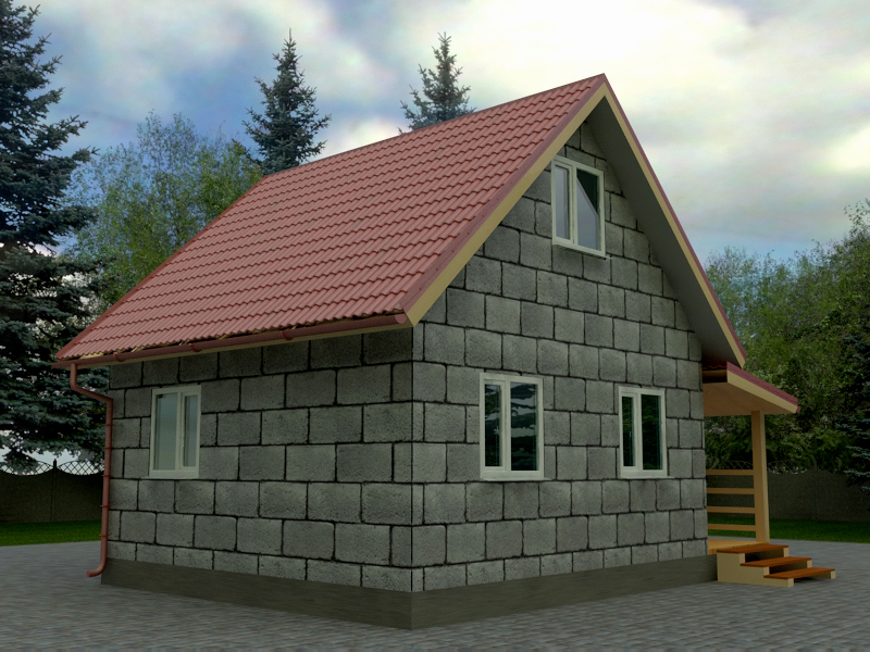 проекты дачных домов фото из пеноблока что нас