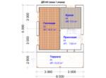 Проект дома 6х6м ДП-09 (план 1 этажа)