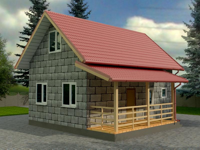 Проект дома 6х9м ДП-08