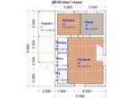 Проект дома 6х9м ДП-08 (план 1 этажа)