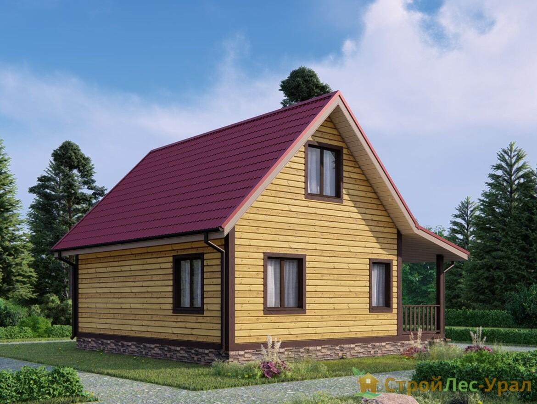 Проект дома 6х8м ДБ-58