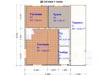 Проект дома 6х8м ДБ-58 (план 1 этажа)