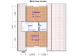 Проект дома 6х8м ДБ-58 (план 2 этажа)