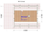 Проект бани 5.5х8.5м БО-11 (план 2 этажа)