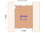 Проект бани 6х6м БО-15 (план 21 этажа)