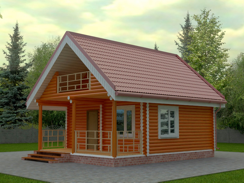 Проект дома 6х6м ДО-01