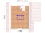Проект дома 6х6м ДО-03 (план 2 этажа)