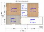 Проект дома 6х9м ДБ-63 (план помещений)