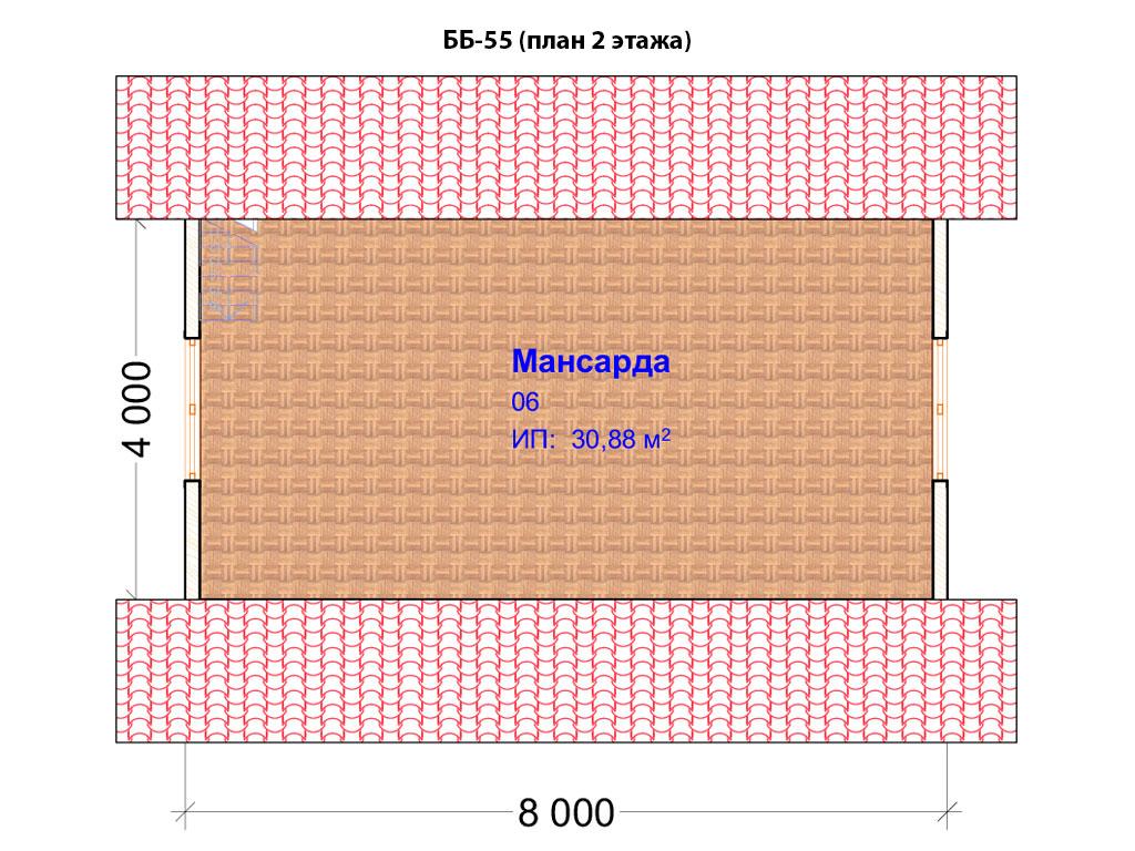 Проект бани 6х6м ББ-55