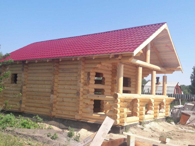 Проект бани 5.5х6м + терраса 2х5.5 - БО-18