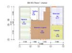 Проект бани 6х8м ББ-56 (план 1 этажа)