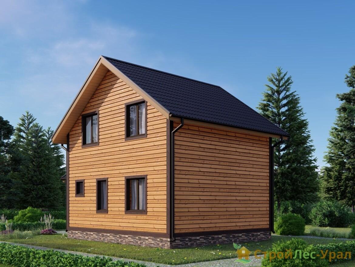 Проект дома 6x7м ДБ-23