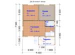 Проект дома 6x7.5м ДБ-28
