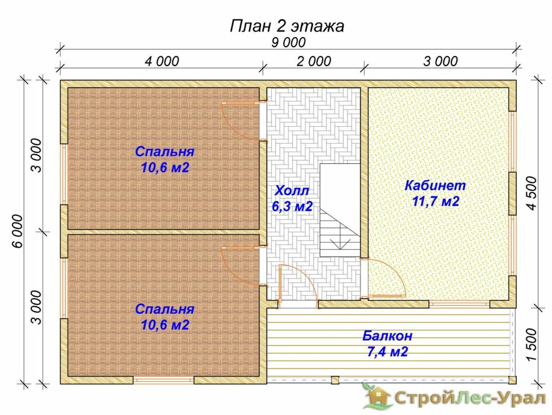 Проект дома 6х9м ДБ-70