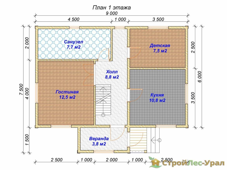 Проект дома 6х9м ДБ-71