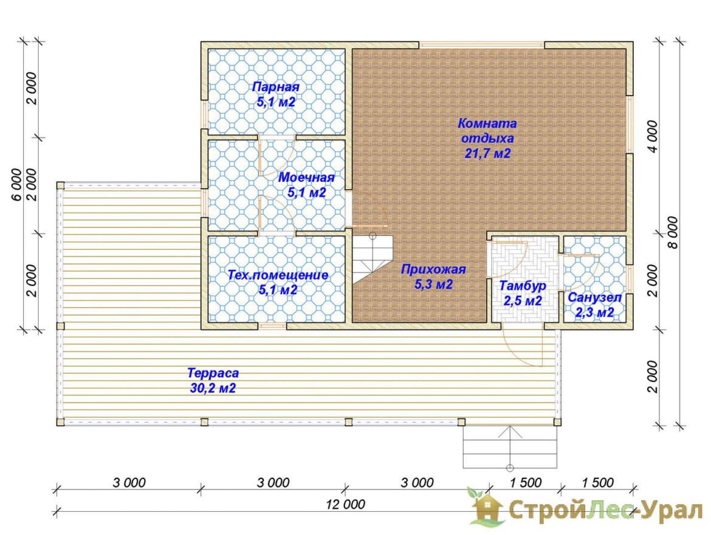 Проект дома 6х9м ДБ-74