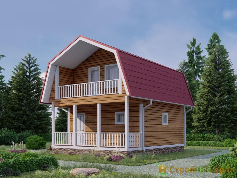 Проект дома 6х6м ДБ-77